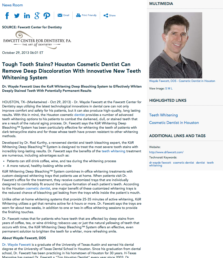 dr wayde fawcett, cosmetic dentist, dentist, teeth whitening