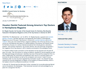 Houston cosmetic dentist, cosmetic dentistry, dental implants in Houston, Dr. Fawcett
