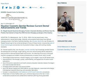 Dr. Fawcett discusses dental trends
